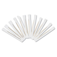 "Cello-Wrapped Round Wood Toothpicks, 2 3/4"", Natural, 1000/Box, 15 Boxes/Carton"
