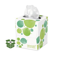 100% Recycled Facial Tissue, 2-Ply, 85/Box, 36/Carton