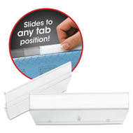 Easy Slide Hanging Folder Tab, 1/3 Tab, 3 1/2 in, Clear, 18/Pack