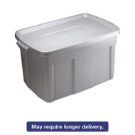 Roughneck Storage Box, 31 gal, Steel Gray, 9/Carton