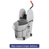 Executive WaveBrake Down-Press Mop Bucket, Gray, 35 Quart