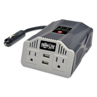 400W AC Inverter with USB Charging; 2 Outlets, 2 USB Ports, Silver