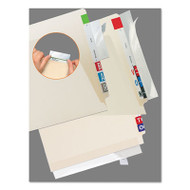File Folder Reinforcing Strip, 2 x 11, Clear, 100/Pack