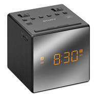 Alarm Clock with AM/FM Radio, ICFC1TBLACK, Black