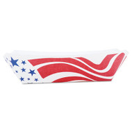 American Flag Paper Food Baskets, Red/White/Blue, 2 lb Capacity, 1000/Carton