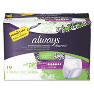 Discreet Incontinence Underwear, Small/Medium, Maximum Absorbency,19/Pk,3Pk/Ctn