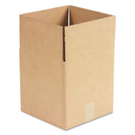 Brown Corrugated - Cubed Fixed-Depth Shipping Boxes, 10l x 10w x 10h, 25/Bundle