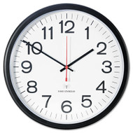 """Deluxe Indoor/Outdoor Atomic Clock, 13 1/2"""", Black Frame, White Face"""
