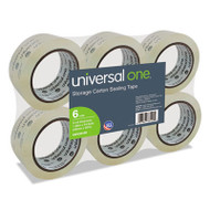 "Heavy-Duty Acrylic Box Sealing Tape, 48mm x 50m, 3"" Core, Clear, 6/Pack"