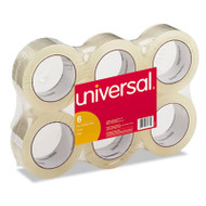 "General-Purpose Box Sealing Tape, 48mm x 100m, 3"" Core, Clear, 6/Pack"