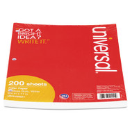 Mediumweight 16-lb. Filler Paper, 8 1/2 x 11, College Rule, White, 200 Sheets/PK