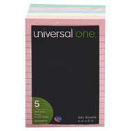 Self-Stick Notes, 4 x 6, Lined, Assorted Pastel Colors, 100-Sheet, 5/Pack