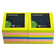 Fan-Folded Pop-Up Notes, 3 x 3, 4 Assorted Neon Colors, 100-Sheet, 12/Pack