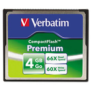 Premium CompactFlash Memory Card, 4GB, 66X Read Speed/60X Write Speed
