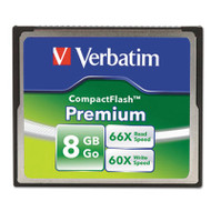 Premium CompactFlash Memory Card, 8GB, 66X Read Speed/60X Write Speed