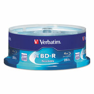 BD-R Blu-Ray Disc, 25GB, 6x, 25/Pk