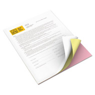 Vitality Multipurpose Carbonless Paper, Three-Part, Letter, Pink/Canary/White