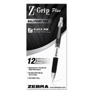 Z-Grip Plus Retractable Ballpoint Pen, Black Ink, Medium, Dozen