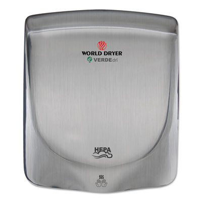VERDEdri Hand Dryer, Stainless Steel, Brushed