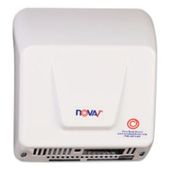 NOVA Hand Dryer, 110-240V, Aluminum, White