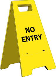 NO ENTRY HEAVY DUTY FLOOR STAND