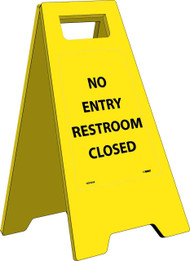 NO ENTRY RESTROOMS CLOSED HEAVY DUTY FLOOR STAND