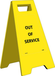 OUT OF SERVICE HEAVY DUTY FLOOR STAND