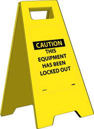 CAUTION THIS EQUIPMENT HAS BEEN LOCKED OUT HEAVY DUTY FLOOR STAND