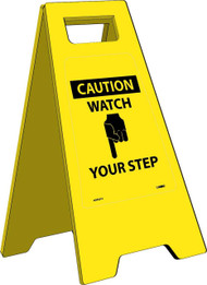 CAUTION WATCH YOUR STEP HEAVY DUTY FLOOR STAND