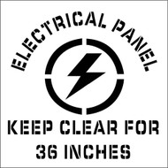 ELECTRICAL PANEL KEEP CLEAR PLANT MARKING STENCIL
