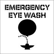 EMERGENCY EYE WASH PLANT MARKING STENCIL