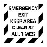 EMERGENCY EXIT KEEP AREA CLEAR PLANT MARKING STENCIL