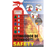 FIRE EXTINGUISHER SAFETY SPANISH POSTER
