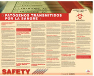 BLOODBORNE PATHOGENS SPANISH POSTER