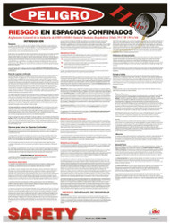 CONFINED SPACE HAZARDS SPANISH POSTER