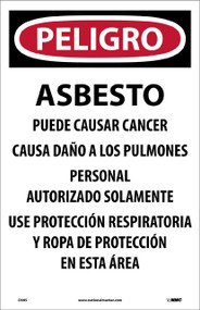 DANGER ASBESTOS DUST HAZARD PAPER HAZARD SIGN