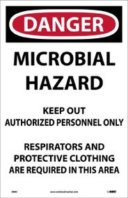 DANGER MICROBIAL HAZARD PAPER SIGN