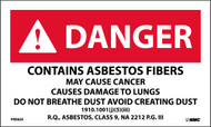 DANGER CONTAINS ASBESTOS FIBERS WARNING LABEL