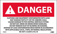 DANGER CONTAMINATED WITH LEAD WARNING LABEL