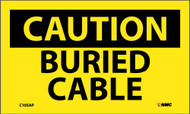 CAUTION BURIED CABLE LABEL
