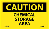 CAUTION CHEMICAL STORAGE AREA LABEL
