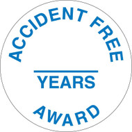ACCIDENT FREE & YEARS AWARD HART HAT EMBLEM