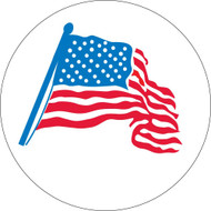 AMERICAN FLAG GRAPHIC HARD HAT EMBLEM