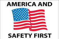 AMERICA AND SAFETY FIRST HARD HAT EMBLEM