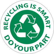 RECYCLING IS SMART DO YOUR PART HARD HAT EMBLEM