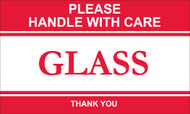 PLEASE HANDLE WITH CARE GLASS THANK YOU LABEL