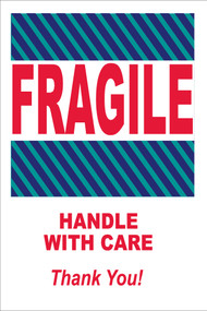FRAGILE HANDLE WITH CARE THANK YOU LABEL