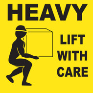 HEAVY LIFT WITH CARE LABEL