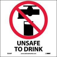 UNSAFE TO DRINK LABEL