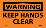 WARNING KEEP HANDS CLEAR LABEL